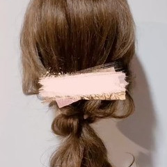 セルフヘアアレンジ ヘアアレンジ 大人ロング セミロング ヘアスタイルや髪型の写真・画像
