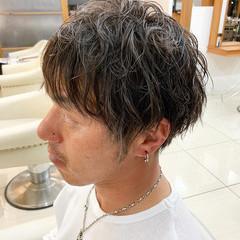 パーマ アッシュ ショート ストリート ヘアスタイルや髪型の写真・画像