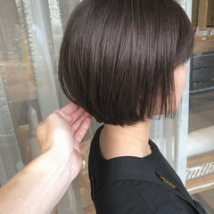 ナチュラル ショートボブ ミニボブ ボブヘアー ヘアスタイルや髪型の写真・画像