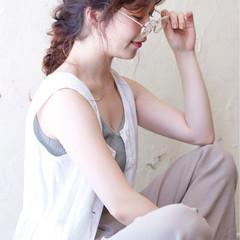 ピュア ロング 編み込み ショート ヘアスタイルや髪型の写真・画像