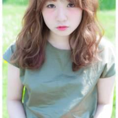 ガーリー モテ髪 ロング フェミニン ヘアスタイルや髪型の写真・画像
