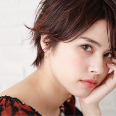 小顔 コンサバ 暗髪 大人女子 ヘアスタイルや髪型の写真・画像