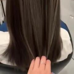 ガーリー 透明感カラー グラデーションカラー バレイヤージュ ヘアスタイルや髪型の写真・画像