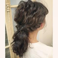 ヘアアレンジ ストリート 二次会 ポニーテール ヘアスタイルや髪型の写真・画像