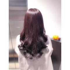 ラベンダー ラベンダーグレージュ イルミナカラー ロング ヘアスタイルや髪型の写真・画像
