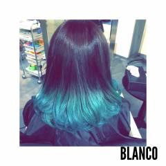 グラデーションカラー ガーリー 個性的 渋谷系 ヘアスタイルや髪型の写真・画像