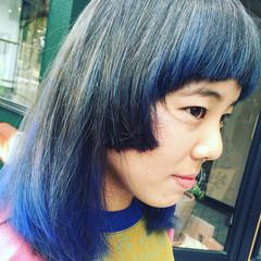 ハイライト アッシュ ストリート ダブルカラー ヘアスタイルや髪型の写真・画像