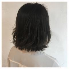 切りっぱなしボブ ナチュラル ボブ 春ヘア ヘアスタイルや髪型の写真・画像