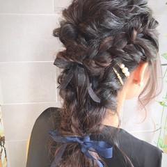 ローライト 結婚式 フェミニン ハイライト ヘアスタイルや髪型の写真・画像