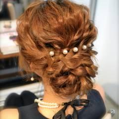 大人かわいい 結婚式 三つ編み ゆるふわ ヘアスタイルや髪型の写真・画像