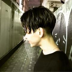 黒髪 ショート センターパート モード ヘアスタイルや髪型の写真・画像