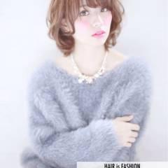 コンサバ 小顔 モテ髪 フェミニン ヘアスタイルや髪型の写真・画像