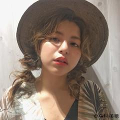 外国人風 くるりんぱ ヘアアレンジ ニュアンス ヘアスタイルや髪型の写真・画像