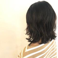 ナチュラル ゆるふわ ミディアム ウルフ女子 ヘアスタイルや髪型の写真・画像
