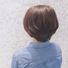 ショート ナチュラル 小顔 ラベンダーピンク ヘアスタイルや髪型の写真・画像