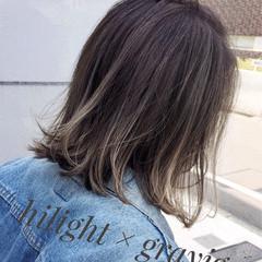外国人風 ロブ ボブ ストリート ヘアスタイルや髪型の写真・画像