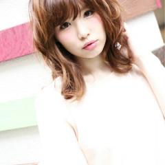 セミロング 大人かわいい フェミニン ミディアム ヘアスタイルや髪型の写真・画像