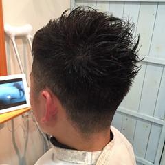 刈り上げ ショート メンズ ウェットヘア ヘアスタイルや髪型の写真・画像