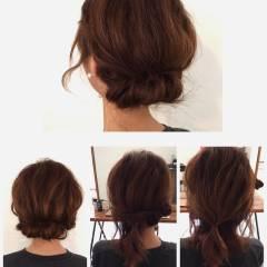 シースルーバング ストリート ヘアアレンジ ミディアム ヘアスタイルや髪型の写真・画像
