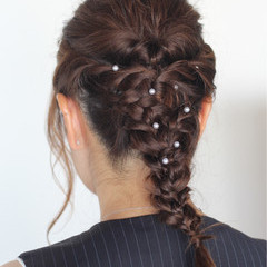 女子力 簡単ヘアアレンジ 透明感 ヘアアレンジ ヘアスタイルや髪型の写真・画像