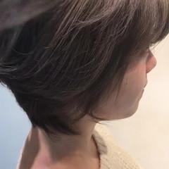 バレイヤージュ ショート 秋 ハイライト ヘアスタイルや髪型の写真・画像