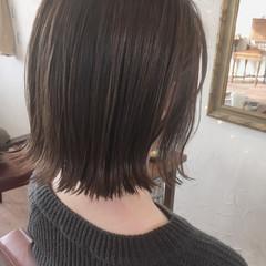 アッシュ 黒髪 オフィス グレージュ ヘアスタイルや髪型の写真・画像