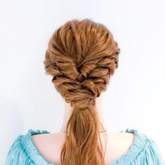 ヘアアレンジ ロング フェミニン ねじり ヘアスタイルや髪型の写真・画像