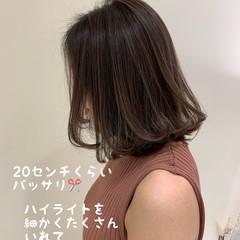 大人ハイライト ミニボブ 外国人風フェミニン ハイライト ヘアスタイルや髪型の写真・画像