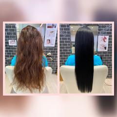 トリートメント ロング エレガント 髪質改善トリートメント ヘアスタイルや髪型の写真・画像
