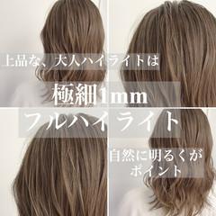 ナチュラル 透明感カラー グレージュ イルミナカラー ヘアスタイルや髪型の写真・画像