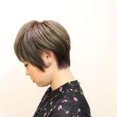 ショート フェミニン ボーイッシュ ベリーショート ヘアスタイルや髪型の写真・画像