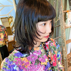 ボブ ニュアンスウルフ モード ウルフ女子 ヘアスタイルや髪型の写真・画像