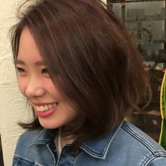 大人かわいい ボブ ストリート グラデーションカラー ヘアスタイルや髪型の写真・画像