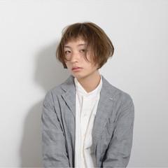 モード 簡単 ボブ パーマ ヘアスタイルや髪型の写真・画像