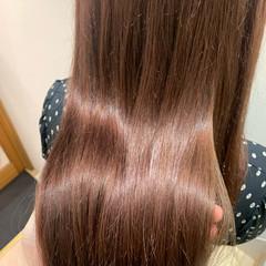 ナチュラル ロング ピンクブラウン ヘアスタイルや髪型の写真・画像