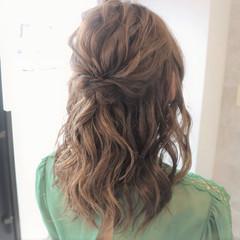 ヘアアレンジ 上品 セミロング 簡単ヘアアレンジ ヘアスタイルや髪型の写真・画像