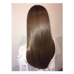 髪質改善トリートメント ナチュラル 縮毛矯正 ロング ヘアスタイルや髪型の写真・画像