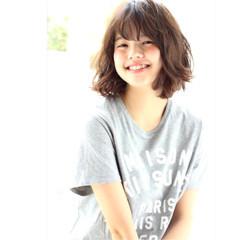 無造作 ミディアム 簡単 パーマ ヘアスタイルや髪型の写真・画像