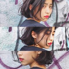 ブラウン パーマ 外国人風 ストリート ヘアスタイルや髪型の写真・画像