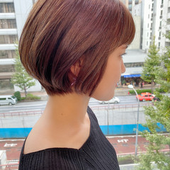 ショートボブ ショートヘア オフィス デート ヘアスタイルや髪型の写真・画像
