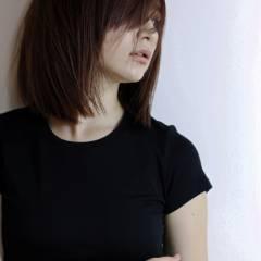 大人女子 モード うざバング 抜け感 ヘアスタイルや髪型の写真・画像
