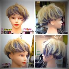 ストリート ブラウンベージュ マッシュ 黒髪 ヘアスタイルや髪型の写真・画像