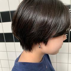 ショート 黒髪 黒髪ショート ショートボブ ヘアスタイルや髪型の写真・画像