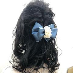 ヘアアレンジ デート フェミニン 簡単ヘアアレンジ ヘアスタイルや髪型の写真・画像