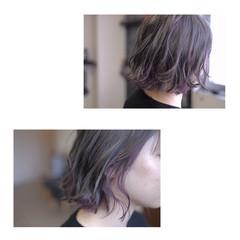 ボブ グレージュ 透明感 ストリート ヘアスタイルや髪型の写真・画像