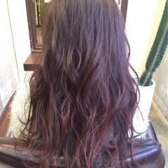 ピンク ロング ピンクアッシュ モーブ ヘアスタイルや髪型の写真・画像