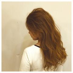 ヘアアレンジ 外国人風 セミロング 波ウェーブ ヘアスタイルや髪型の写真・画像