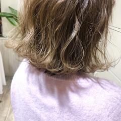 透明感カラー 透明感 切りっぱなしボブ ボブ ヘアスタイルや髪型の写真・画像
