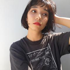 フェミニン モード パーティ ボブ ヘアスタイルや髪型の写真・画像