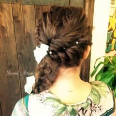 コンサバ 結婚式 ヘアアレンジ モテ髪 ヘアスタイルや髪型の写真・画像